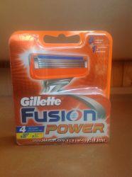 Картриджи для бритья Gillette Fusion Power, Оригинал, 4шт. , Италия