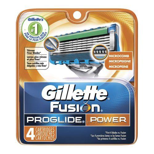 Оригинальные картриджи Giliette Fusion Proglide Power, 4шт, Италия