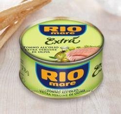 Тунец  Rio Mare Extra all&acuteolio extra vergine d&acuteoliva, 80g, Италия