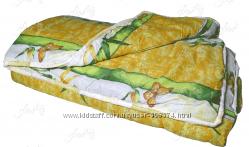 Ватное одеяло полуторное, двойное