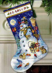 Вишию новорічний чобіток для вашої малечі