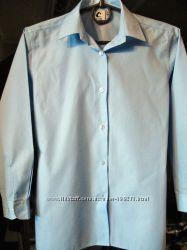 Рубашка блузка школьная голубая