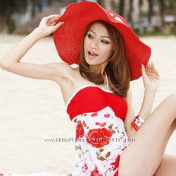 Шляпа летняя, пляжная. В наличии Цвета красный, розовый