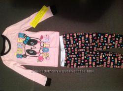 Хлопковая пижама для девочки 2-3 лет.