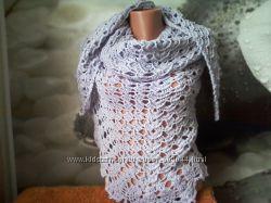 красивая нежно-сиреневая шаль