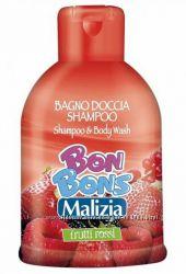Шампунь-гель для душа лесные ягоды, 500мл, Malizia Bon Bons