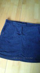 Юбка Tommy Hilfiger, вельвет, синяя, размерXL