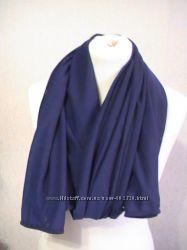 Шарф большой красивый синий18063см