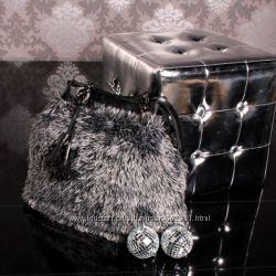 Стильная и оригинальна меховая сумка