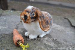 Кролик Шустрик работа по фото Валяние из шерсти.