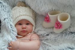 Валенки для фотосессии новорожденных. Обувь для детской фото съемки.