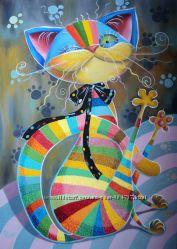 Картина маслом Хитрый, Добрый Кот-Шалун