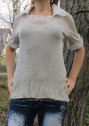 фирменная блузка имитация двойки размер L-XL