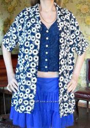 Блуза-имитация двойки, вискоза, размер L-XL
