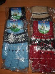 Перчатки женские  шерстяные тёплые