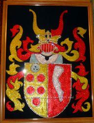Картина из страз Фамильный герб