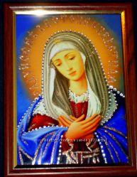 Икона из страз Богородица