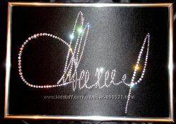 картина из страз  подпись, подарки, оригинальные подарки