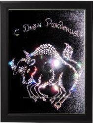 Подарок картина со стразами  Знак зодиака Телец
