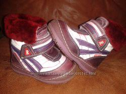 Классные турецкие кожаные зимние ботиночки Red Kids