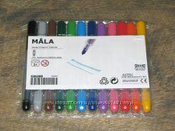 Разноцветные фломастеры 12шт. IKEA MOLA Италия. Наличие Луганск