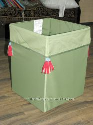Короб для хранения игрушек IKEA, зеленый с орнаментом 35х35х45 Луганск