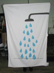 Махровая банная простыня полотенце IKEA 150x100, Душ и капли. Луганск