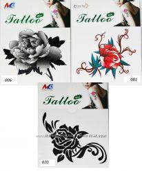 Временные татуировки-мини, 1 рисунок, много видов