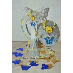 Украина Подвеска Бабочка, цвета флага