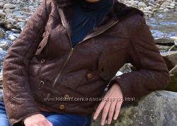 Меховая куртка, дубленка с капюшоном