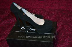 Замшевые красивые новые туфли, р. 36 полномерный
