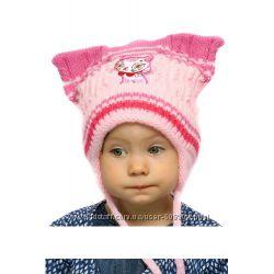Зимние шапки на девочек