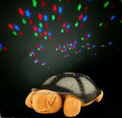 Музыкальный ночник  проектор звездного неба Черепаха