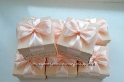 Свадебные бонбоньерки с именами