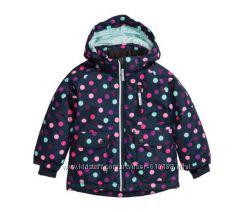 Зимняя функциональная куртка для девочки H&M. Размер 128