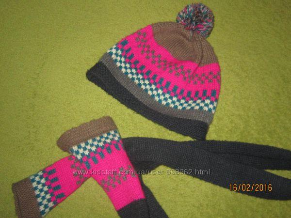 шапка, шарф BENETTON, 4-6лет