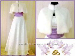 Скидка Красивейшее дизайнерское свадебное платье новое.
