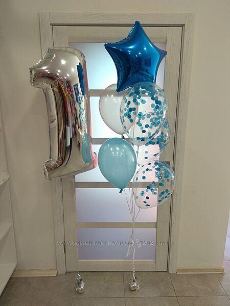 Воздушные шары Киев, фонтаны из шариков, фольгированные цифры, шары с гелие