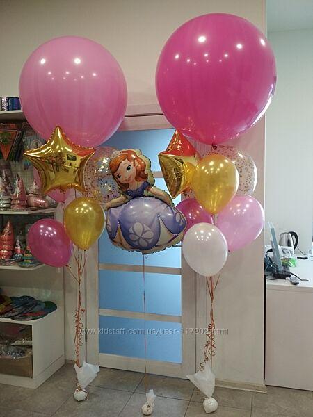Воздушные шары на выписку из роддома Киев, Вишневое, Софиевская Борщаговка.