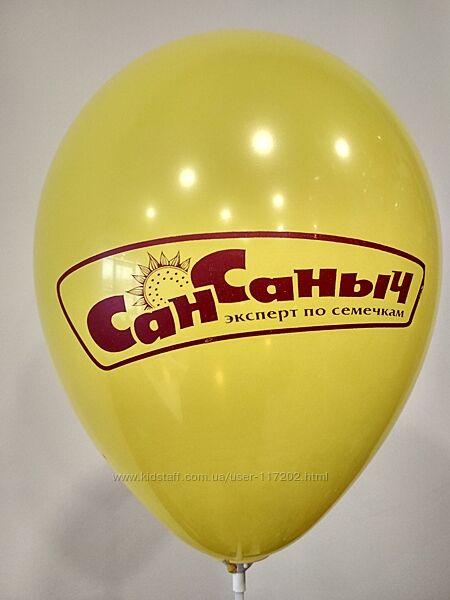 Нанесение логотипов на воздушные шарики Киев, гирлянда арка из шариков.