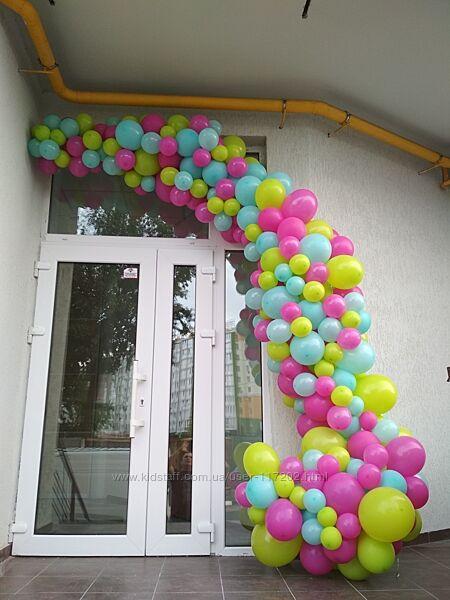 Арки и гирлянды из шаров, гелиевые шары, круглосуточная доставка шаров Киев