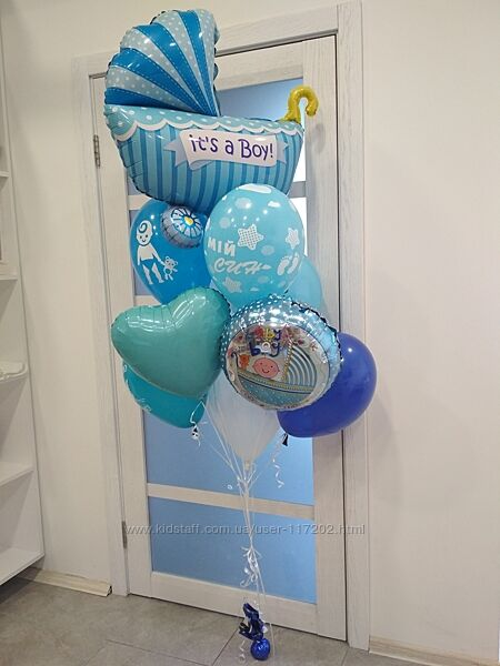 Оформление юбилея и дня рождения воздушными шарами в Киеве, цифры из шаров.