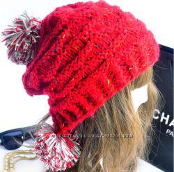 молодежные стильные зимние шапочки акция