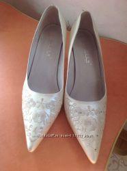 Свадебные туфли, 40 размер, одеты 1 раз