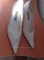 Свадебные туфли, 36 размер, обуты 1 раз