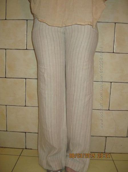 Новые брюки летние льняные на худышку