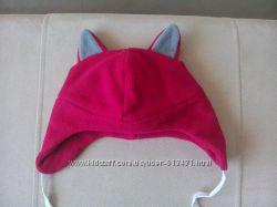 Прикольная яркая красная флисовая шапочка волченка