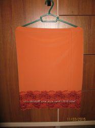 Трикотажная летняя юбка для беременной и не только -  на бедра 96 -104 см