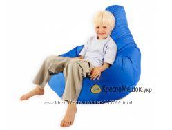 Кресло мешок груша L синий Oksford