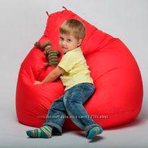 Кресло груша детская  90х60 красный охфорд